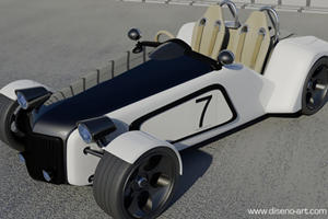 An Artists New Vision of the Lotus 7