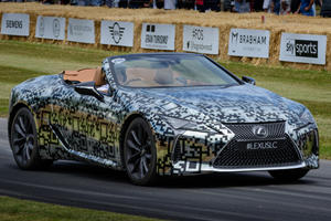 Gorgeous Lexus LC Convertible Prototype Debuts At Goodwood