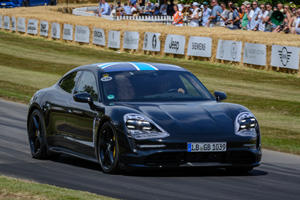 First Look At The Porsche Taycan On The Move