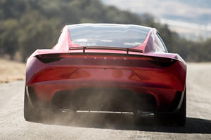 Tesla Roadster's Rocket Thrusters Have The Perfect Hiding Spot