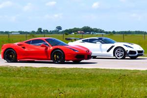 Watch A 1,000-HP Corvette ZR1 Destroy A Ferrari 488 GTB