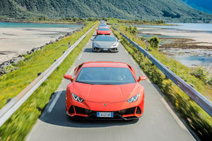 This Epic Lamborghini Huracan Evo Road Trip Looks Like Heaven