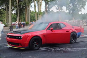 Watch This Dodge Demon Burn Back To The Pits Of Hell
