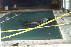 Swimmers Were Stunned When This Toyota Crashed Into The Water