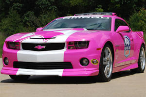 Pink Camaro Pace Car Fights Cancer