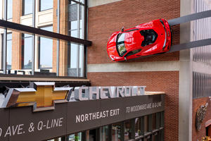 C8 Corvette Becomes Insanely Cool Wall Art