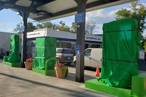 Gas Station Ditches Oil For Electric Charging