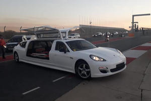 Porsche Panamera Hearse Leads Weirdest Record Attempt Ever