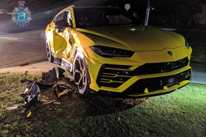 14-Year-Old Boy Smashes Stolen Car Into Lamborghini Urus