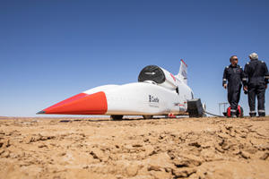 Bloodhound LSR Jet Car Just Hit Over 500 MPH