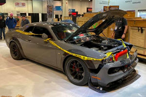 You Won't Believe How This Smashed Challenger Ended Up At SEMA