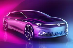 Volkswagen ID. Space Vizzion Previews Futuristic Electric Wagon