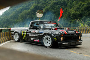 Ken Block Slides Around China's Most Dangerous Road In A 900-HP Truck