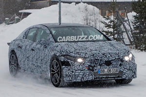 Mercedes EQS Spied Playing In The Snow