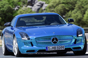 Benz Shocks Paris with Electric SLS