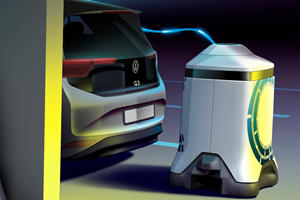 Volkswagen's Mobile Charging Robot Is So Awesome