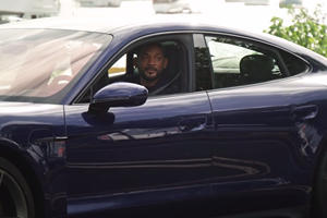 Will Smith Scares Lyft Riders In A Porsche Taycan Turbo S
