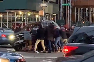 Watch Brave New Yorkers Lift Mercedes SUV To Save Trapped Pedestrian