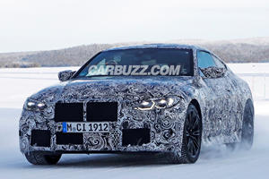 New BMW M4 Coupe Spied Sliding In The Snow