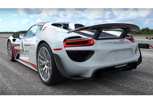 Watch A Porsche 918 Spyder Hit 214 MPH In Under A Minute
