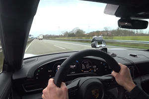 Watch The Porsche Taycan Turbo S Hit Top Speed On The Autobahn