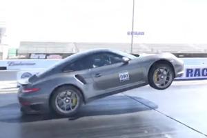 Watch A 1,250-HP Porsche 911 Turbo S Pop An Insane Wheelie