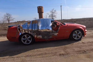 This Guy Duct-Taped Himself To A Ford Mustang That Went 90 MPH