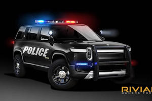 Good Luck Outrunning This 750-HP Rivian Police Cruiser