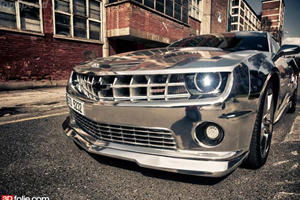 Video: Chevrolet Camaro SS Wrapped in Chrome