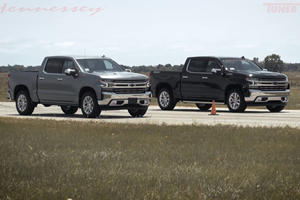 Watch Hennessey's 700-HP GMC Sierra Destroy A Chevy Silverado