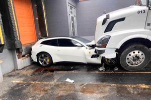 Trucker Gets Revenge By Driving Semi Into Boss's Ferrari