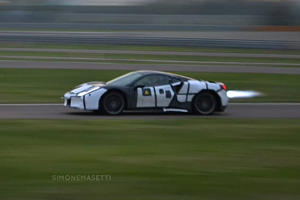 Ferrari Caught Testing A New Fire-Spitting Supercar