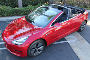 Tesla Model 3 Convertible Looks Better Than We Thought