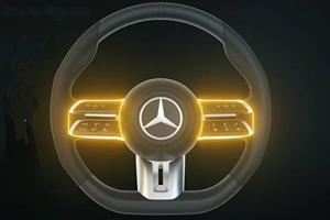 New Mercedes Steering Wheel Is A High-Tech Wonder