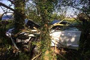 Tesla Model 3 Driver Thinks Autopilot Could've Prevented His Nasty Crash