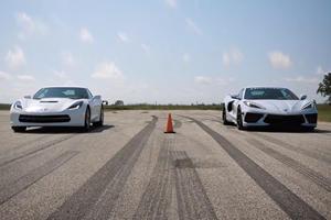 This C7 Vs C8 Corvette Drag Race Won't Shock Anyone