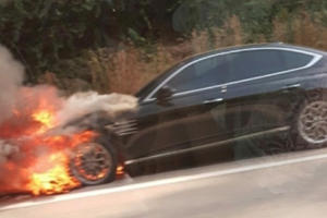 Brand New 2021 Genesis G80 Catches Fire