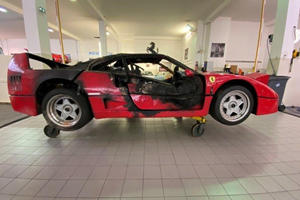 That Toasted Ferrari F40 From Monaco Is Being Restored