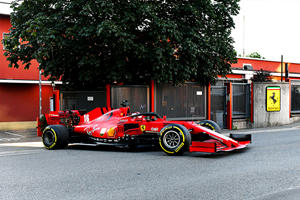 Charles Leclerc Takes Joyride Through Maranello In Ferrari F1 Car