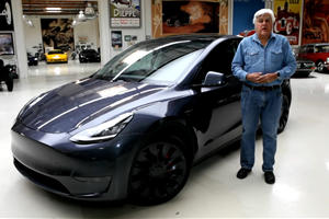 Watch Jay Leno Take The Tesla Model Y For A Spin