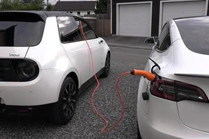 Watch A Honda e Charge A Tesla Model 3