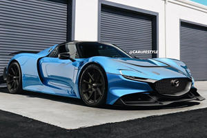 Mazda RX-Vision With Porsche 918 Spyder Styling Looks Sublime