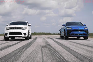 Super-SUV Drag Race: Jeep Trackhawk Vs. Lamborghini Urus