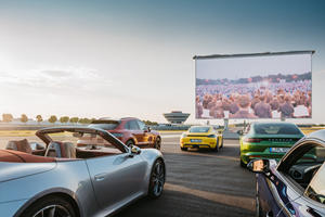 Porsche And Audi Make Drive-In Theaters Great Again