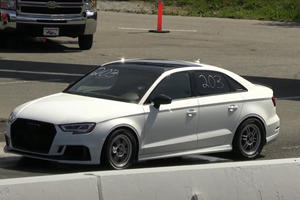Watch This Single-Seat Audi RS3 Destroy The Quarter Mile