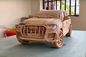 Artist Creates Staggeringly Detailed Audi Q7 From Wood