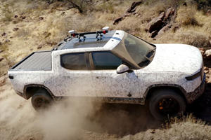 Watch The Rivian R1T Being Pushed Hard Off-Road