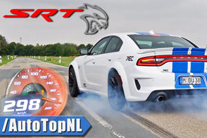 Watch The Dodge Charger Hellcat Tear Up The Autobahn