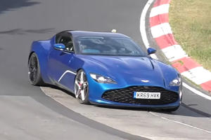 Rare Look At Aston Martin DBS GT Zagato On The Move