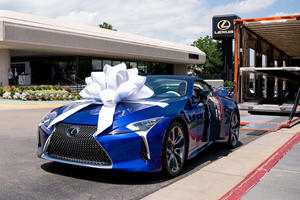 Someone Paid $2 Million For This 2021 Lexus LC 500 Convertible